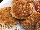 Рецепта Пържени оризови кюфтета с бекон и овесени ядки